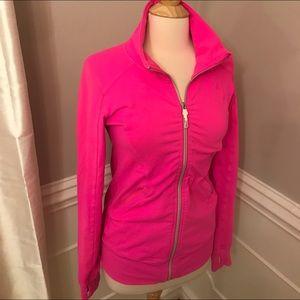 Bright pink Lululemon running jacket